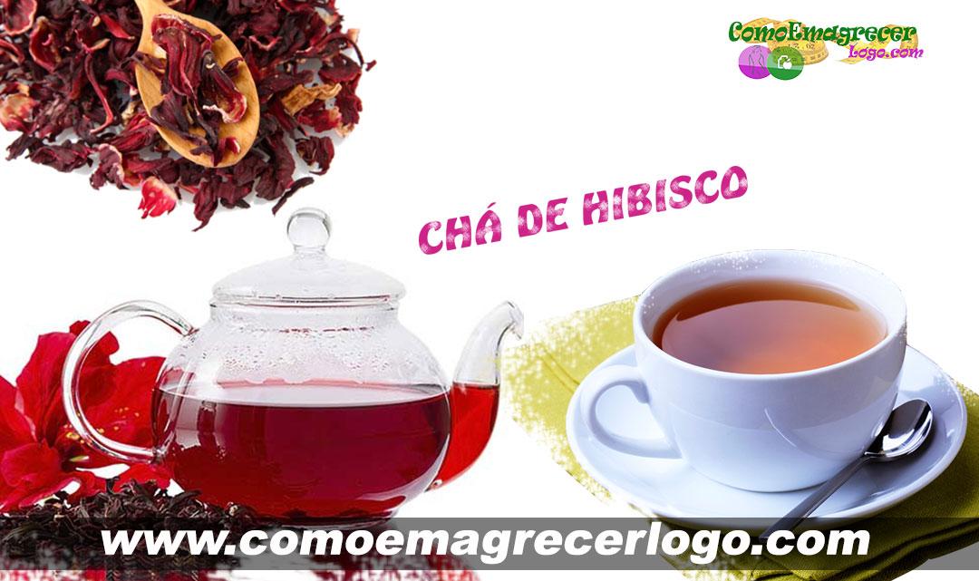 Chá de Hibisco um excelente chá emagrecedor